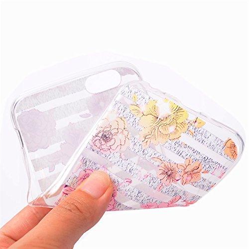Case iPhone 5, iPhone 5S Cover, Bonice Lusso Cristallo Diamante Strass Glitter Bling [Rotazione Grip Ring Kickstand] Morbida Bordo in Silicone Posteriore a Specchio Telefono con Supporto Dellanello C Modello 16
