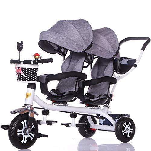 Cochecitos de bebé plegables Carrito de viaje for bebé Triciclo doble for niños Trolley de bicicleta...