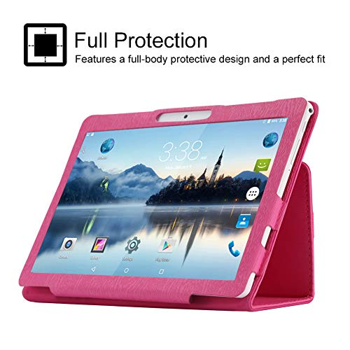 PADGENE® 10.1 Inch Android Tablet 16 GB Tablet PC 64 Bit Quad Core up to 1.3 GHZ Processor MTK 6580 Pad with Dual Camera 2MP+5MP,Built in 2 Normal Sim Card Slots, Bluetooth, GPS, WIFI