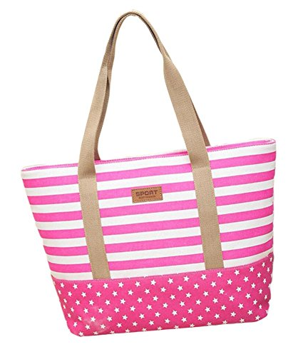Borsa Tote A Tracolla Tela Casual Shopping Bag 35 12 31 Cm Rosa