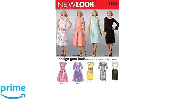 Simplicity 6824 New Look Schnittmuster für Damenkleider, Gr. 38-48 ...