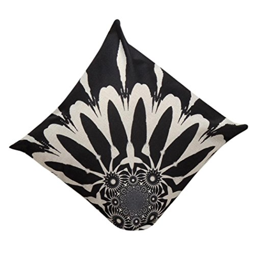 Kissen Fall, ammazona Vintage Baumwolle Leinen Kissenbezug Sofa Taille Überwurf Kissenbezug Home Decor, Ⅲ, 45 cm*45 cm (Bambus-zip)