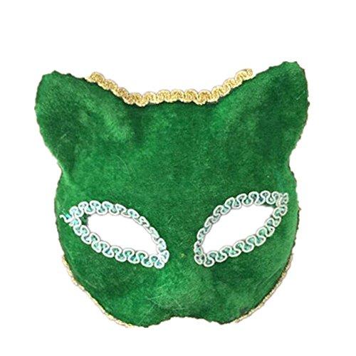 Masken Gesichtsmaske Gesichtsschutz Domino falsche Front Make-up Tanz Maske Tier Halb Gesicht Show Requisiten Halloween grün (Domino Maske Grüne)