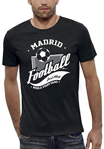 3D animierte T-shirt FOOTBALL MADRID Augmented Reality - PIXEL EVOLUTION - Mann Schwarz