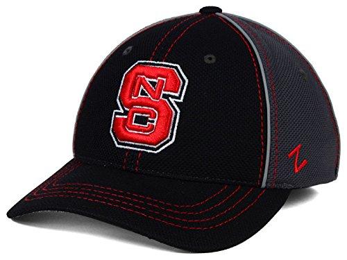 th Carolina Wolfpack NCAA Zephyr t-Storm Herren Schwarz Grau Folie Stretch Fitted Cap Hat ()