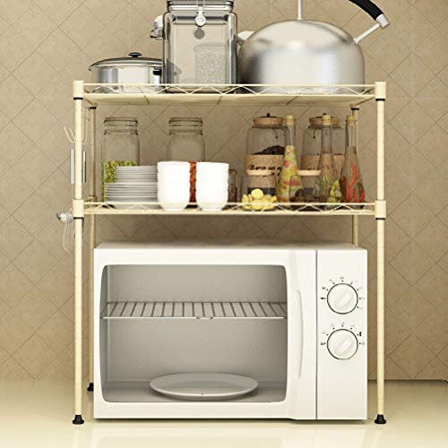 Kitchen furniture - Support de rangement ménager de support de four à micro-ondes jaune pour étagère de cuisine (taille: 55X30X55CM) WXP