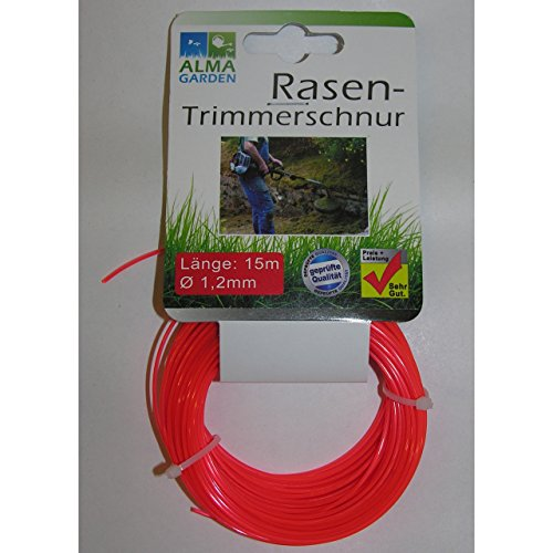 1 Rolle Rasen-Trimmerschnur 15m 1,2mm Kunststoff Mähfaden Trimmer Faden line
