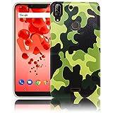 thematys Passend für Wiko View 2 Plus Camouflage Handy-Hülle Silikon - staubdicht stoßfest und leicht - Smartphone-Case
