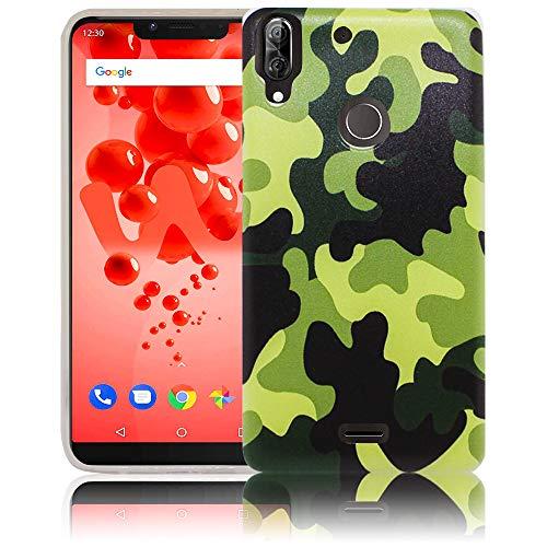 thematys Passend für Wiko View 2 Plus Camouflage Handy-Hülle Silikon - staubdicht stoßfest & leicht - Smartphone-Case