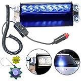 HQRP 8 LED Lumière stroboscope bleu gyrophare d'urgence12V type 4x4 avec HQRP mètre du soleil
