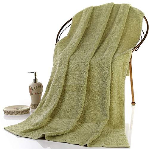 elagoods Weiche Baumwollhandtuch hohe Dämpfung Schwimmen heimbadezimmer olivgrün 70 * 140cm