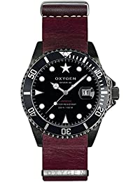 University Sports Press EX-D-MBB-40-NL-PL - Reloj de cuarzo unisex, correa de cuero color púrpura
