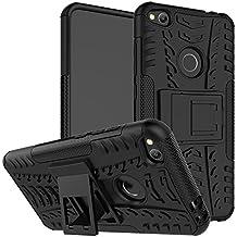 """OFU®Para Huawei P8 Lite (2017) 5.2"""" Smartphone, Híbrido caja de la armadura para el teléfono Huawei P8 Lite (2017) 5.2"""" resistente a prueba de golpes contra la lucha de viaje accesorios esenciales del teléfono-negro"""