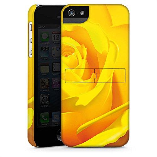 Apple iPhone X Silikon Hülle Case Schutzhülle Rose Blüte Gelb Premium Case StandUp