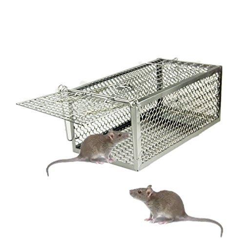 TIFANTI Prodotto Anti-Roditori, Ferro Gabbia Trappola Professionale per La Cattura di Animali Vivi a Entrate per Topi,Ratti e Scoiattoli