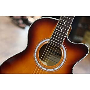 Paragon J002CE Electro Acoustic Guitar Brown Sunburst