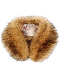 Biback Inter in Finta Pelliccia Sciarpa , Fluffy Inverno Scialle Nuovo da  Donna Invernale in Pelliccia 6c32a08f685