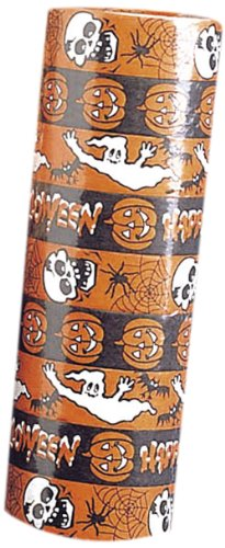 -Luftschlangen Halloween, Lieferumfang 4Stück, Orange ()