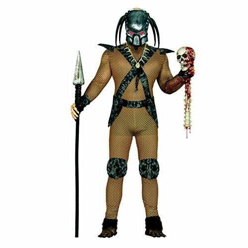 Imagen de guerrero de película disfraz de alien l 52/54 ropa carnaval hombre atuendo predator traje extraterrestre vestido de varón demonio