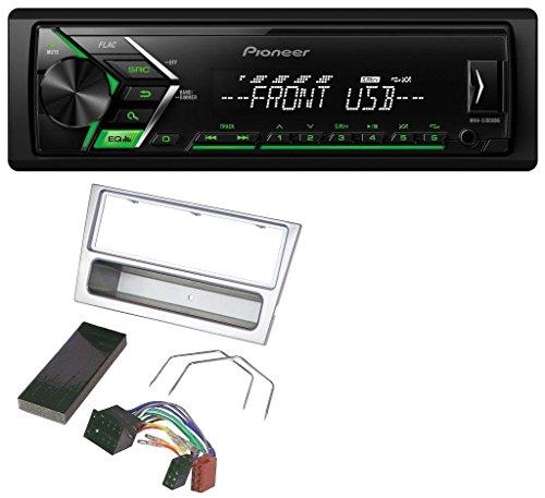 Subwoofer Und Auto Lautsprecher Combo (caraudio24 Pioneer MVH-S100UBG USB MP3 1DIN AUX Autoradio für Opel Combo C Corsa C Meriva Tigra 2000-2004 silber)