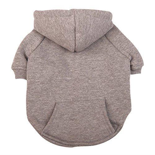 Idepet Haustier Kleidung Hundepullover hunde kleider welpen pullover Hunde warmer Mantel für Katzen Kleine Hunde Chihuahua Welpe Teddy Pudel (XL, Grau) (Ihm Erwachsenen T-shirt)