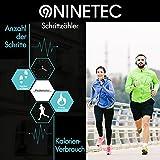 NINETEC Smartfit F2HR Rot Fitness Tracker mit Pulsmesser Bluetooth 4.0 Sport Armband Schrittzähler Aktivitätsarmband Fitnessarmband Sportuhr mit Schlafanalyse Kalorienanalyse SMS Anrufe - 5