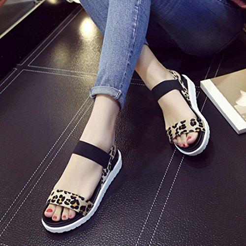 ... Rcool Mode Sandalen Frauen Aged Leder Flache Sandalen Damen Schuhe  Schwarz ...