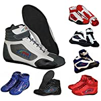 Adult New Karting//Race/Rally/Track Boots with Synthetic Leather/Suede & Mash panel