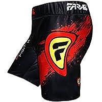 MMA Vale Tudo Pantalones Cortos Grappling Lucha Formación Match compresión Tight (tamaño mediano)