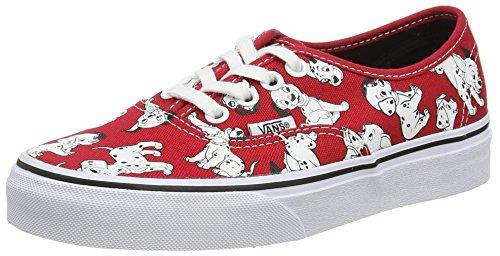 Vans Authentic, Sneakers Basses Mixte Adulte Rouge (Disney/Dalmatians/Red)