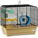 CTC-Trade | Hamsterkäfige Beige Außenmaße 40x25x34,5 Mäusekäfig Nager Hamster Plastik Kleintier Käfig mit Zubehör