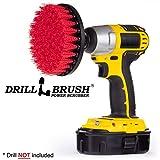 Drill Brush Power Scrubber Rojo 13cm Accesorio Para Taladro de potencia depurador para servicio pesado de limpieza para aplicaciones de ladrillos
