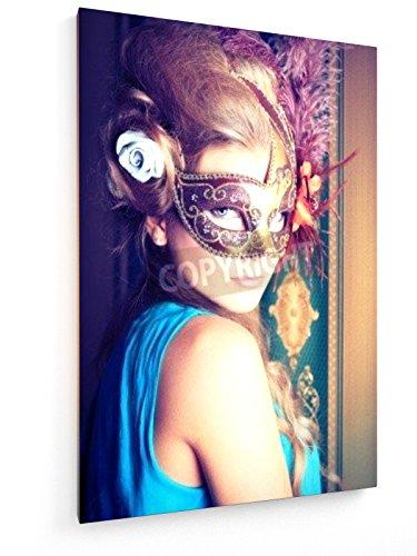 Karneval - 50x75 cm - Textil-Leinwandbild auf Keilrahmen - Wand-Bild - Kunst, Gemälde, Foto, Bild auf Leinwand - (Damen Klassische Schönheit Kostüme)