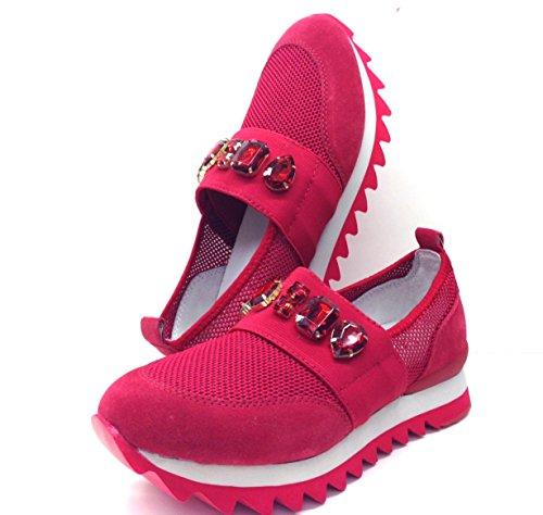 Apepazza , Chaussures de sport dextérieur pour femme blanc Bianco 36 EU Rouge