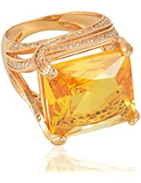 Sanaa Creations Yellow Gold Plated Alloy Ring For Women