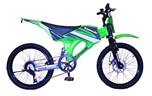 "Kawasaki ZX-MB 20"" Moto-X Boys Cycle - Front Disc-Brake (Ages 8-13 years)"