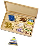 Montessori Perlenmaterial, farbig 1- 10, 101-Teile in Holzbox