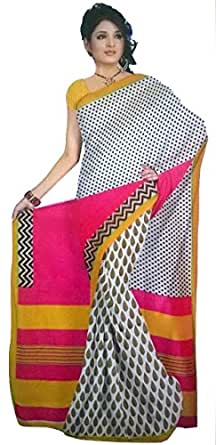 Monash Creations Fusion Ghisa Silk saree with Patli Pallu for Women