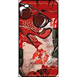 Coque apple iphone 4s motif girly fond rouge
