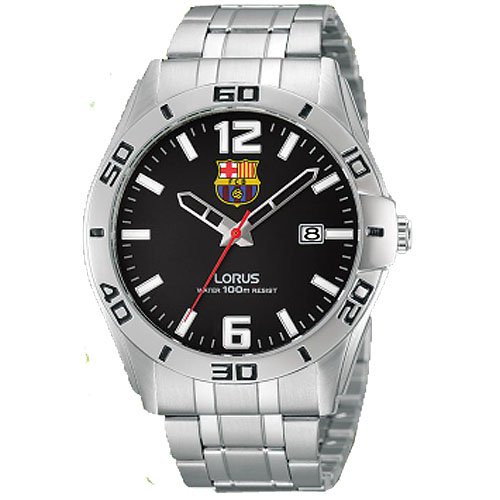 Reloj Lorus Fc Barcelona Rh933dx9 Niño Negro