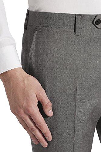 next Costume en laine italienne: Pantalon Coupe Slim Homme Gris