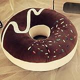 Baozengry Süße Schokolade Erdbeere Donuts Große Einzelne Bohrung Pp Dicken Kissen Kissen Unten Pad, 39 X 39 Cm, Kaffee