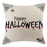 echo4745 Taie d'oreiller Halloween Série Peinture à l'aquarelle Taie d'oreiller...