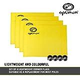 OPTIMUM banderines de Esquina de Entrenamiento (4Unidades), Color Amarillo