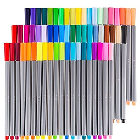 ATLOO Set 60 Assorted Colors Fineliner Color Pen Colorful Ultra