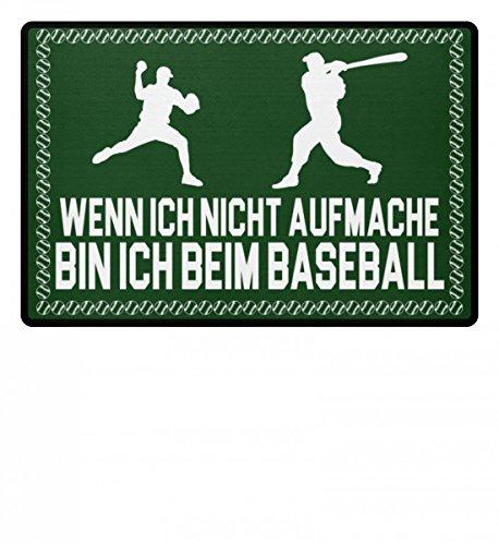shirt-o-magic Baseball: .bin ich beim Baseball - Fußmatte