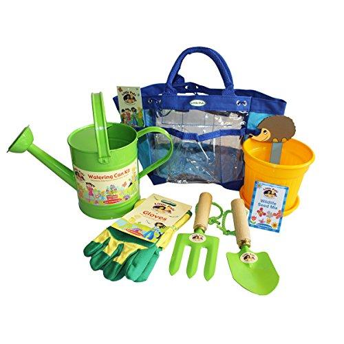 Set de jardinería para niños y kit de cultivo verde