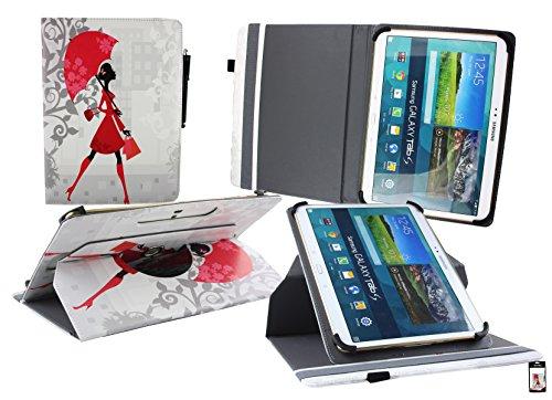 Emartbuy Mediacom SmartPad MX 10 HD Tablet PC 10.1 Pollice Universale ( 9 - 10 Pollice ) Elegante Signora 360° Rotante Folio Wallet Custodia Case Cover + Stilo