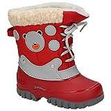 Spirale Kinderschuhe Fabi Mädchen Stiefel, Winterstiefel, Boots, Schlupfstiefel Rot (Rot), EU 24