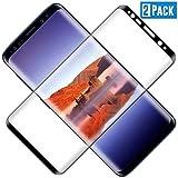 TOCYORIC [2 Unidades] Protector Pantalla para Galaxy S8, [Cobertura Completa] [Alta Definicion] [Sin Burbujas] [9H Dureza] Cristal Templado para Galaxy S8